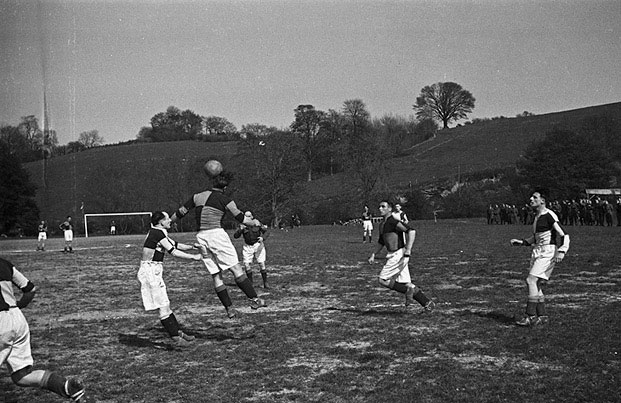 [Football Match, probably in Montgomeryshire]