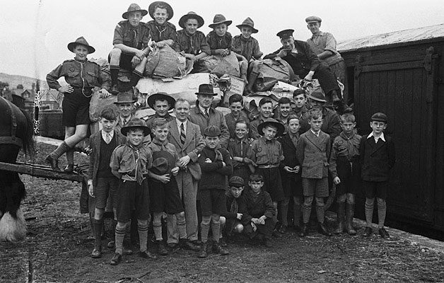 [Waste-paper collected by Llanidloes Scouts]