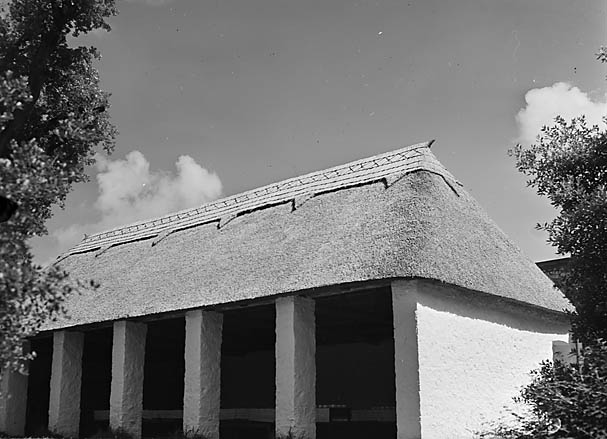 [Buildings at St. Fagans, including a cruck building]