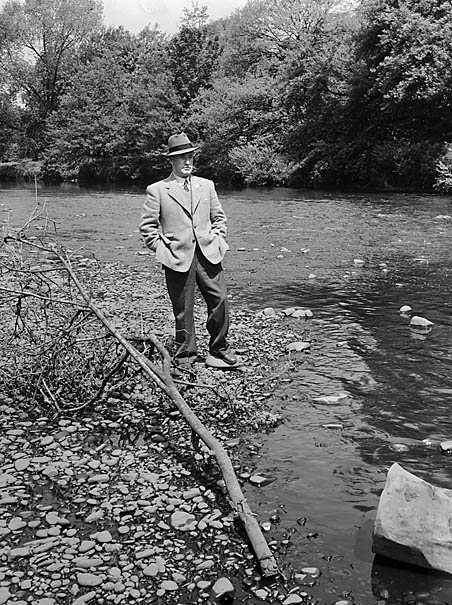[Jack Jones, the author, by the River Taff]