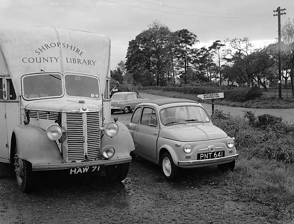 [The Fiat 500 and Shropshire's Mobile Library]