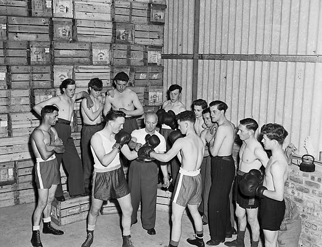 [Members of Trefonen Boxing Club]