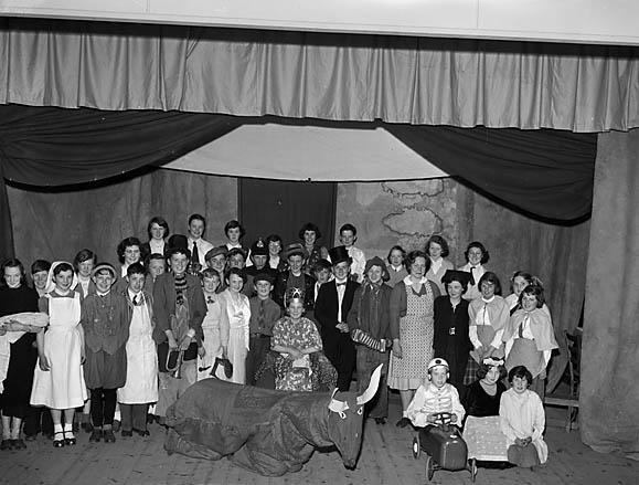 """[""""Y Fuwch Goch"""", a pantomime written by Maldwyn Jones and performed by senior pupils of Llanrhaeadr Modern School]"""