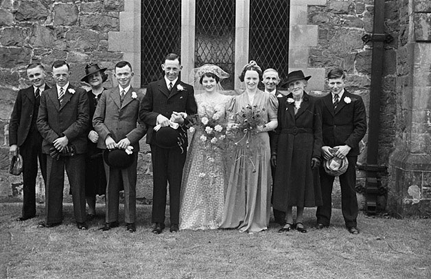 [Wedding of Charlotte Langford and John Edward Owen at Berriew Church]