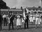 [Princess Royal presenting colours to the Merioneth branch of the British Red Cross Society at Dolgellau]
