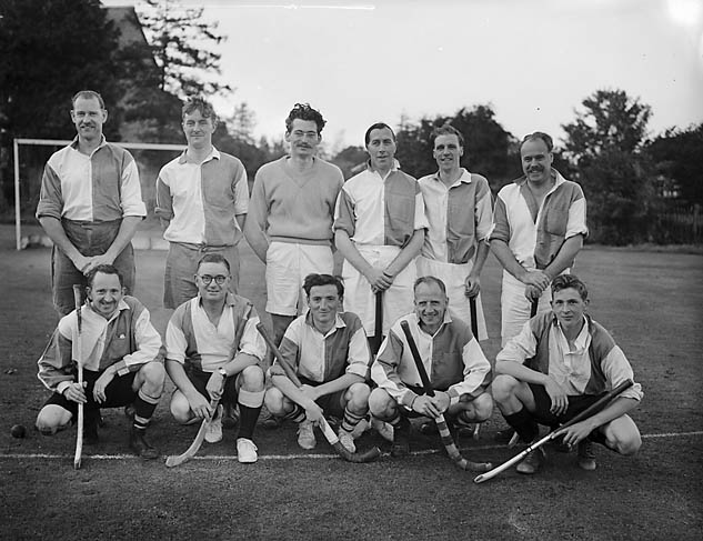 [Hockey practice match at Oswestry - Hockey Club v Cricket Club]