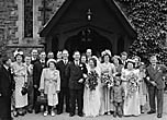 [Wedding of Alma Brown and George Edwards wedding at Llandysilio]