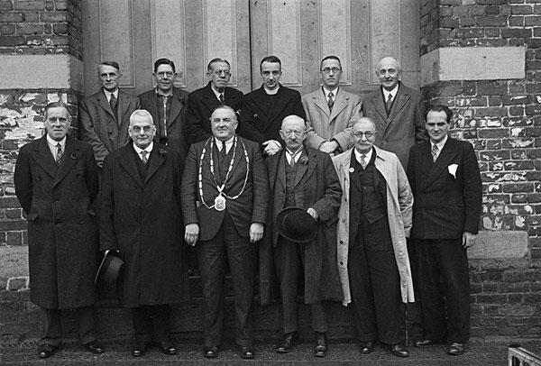 [Montgomery Mayor Reg Jones with officers of the Borough]