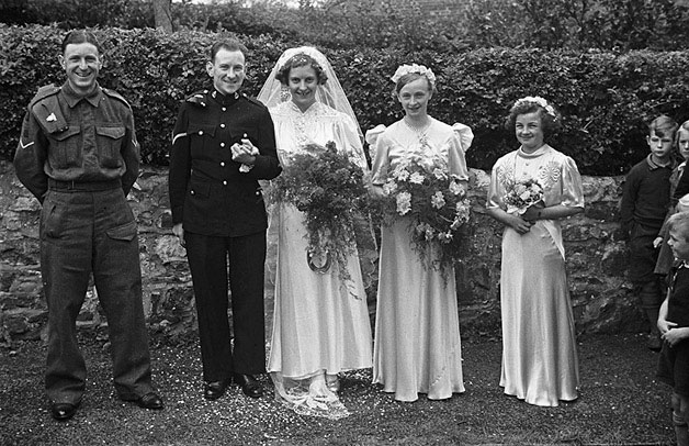 [Unidentified wedding, probably in Montgomeryshire]