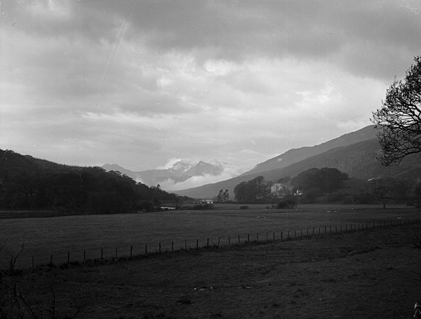 [A view of Snowdon from Capel Curig]