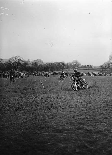 [Oswestry and District Motor Cycle Club grass track meeting]