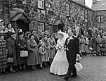 [The wedding of Shan Emlyn to Owen Edwards at Penmount Chapel, Pwllheli]