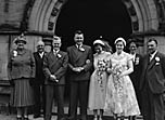 [Wedding of Linda Jones to P B Blake at Oswestry]