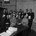 """[Chirk """"Gospellers"""" with their religious pamphlets]"""