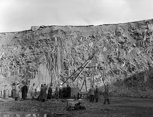 [Marchlyn Mawr Quarry, submerged by the hydro-electric scheme]