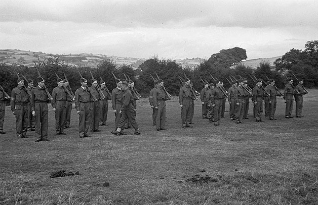 [Newtown Home Guard Drill Parade]
