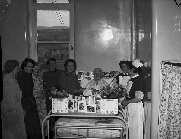 [Mrs Hughes' birthday at St David's Hospital, Bangor]