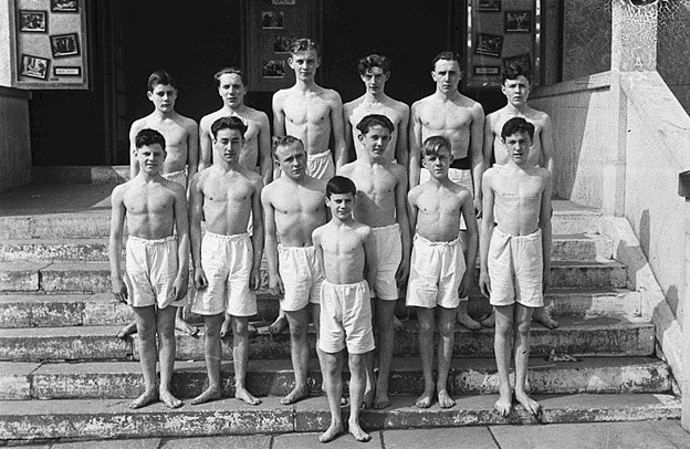 [Pupils of Newtown County School who performed gymnastics at the school Prize Day]