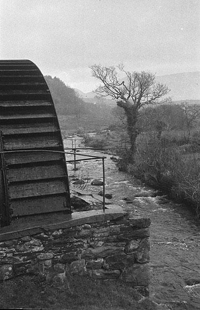 [Water-driven woollen mill near Pen-y-groes, Caernarfonshire]