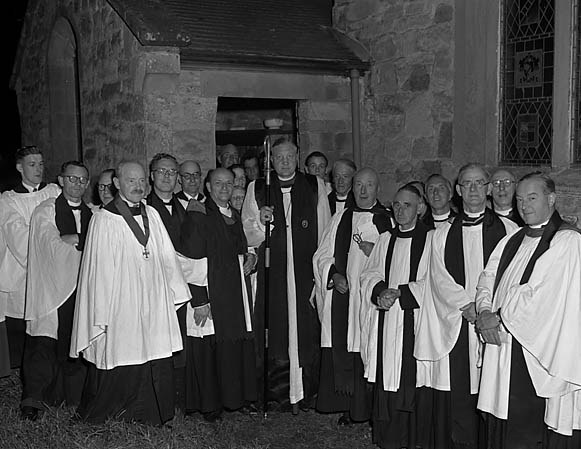 [Induction of new vicar at Dudleston]