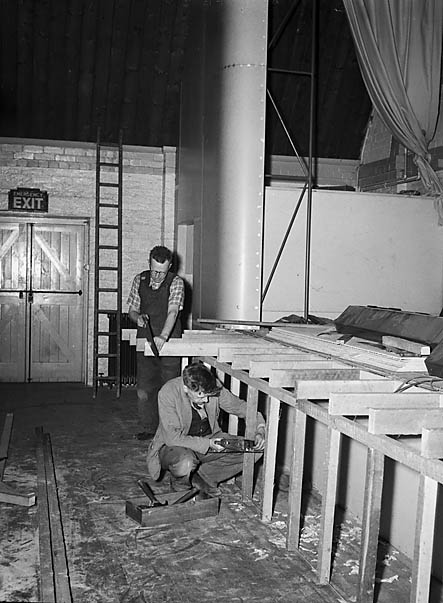 [Building and opening of the new stage at the Strand Hall, Builth Wells]