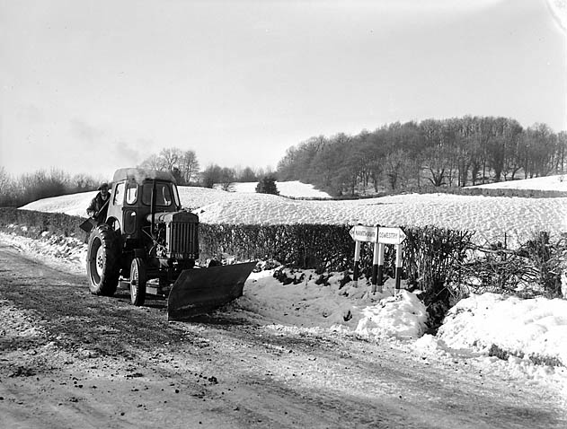 [Snow-plough at Treflach]