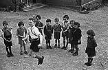 [Children at PT in Llanfihangel-yng-Ngwynfa church school]