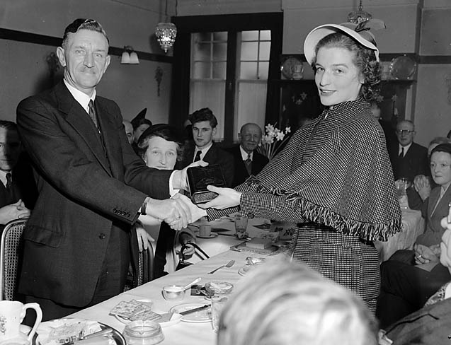 [Reception at Llandrindod for Welsh Tourist Board hostess, Janet Jones, prior to her American tour]