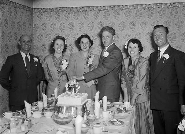 [Wedding of Miss Irene Tanner and Mr Kenneth Young at Holy Trinity Church Oswestry]