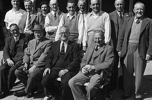 [Members of the Oswestry Golf Club, 1949]