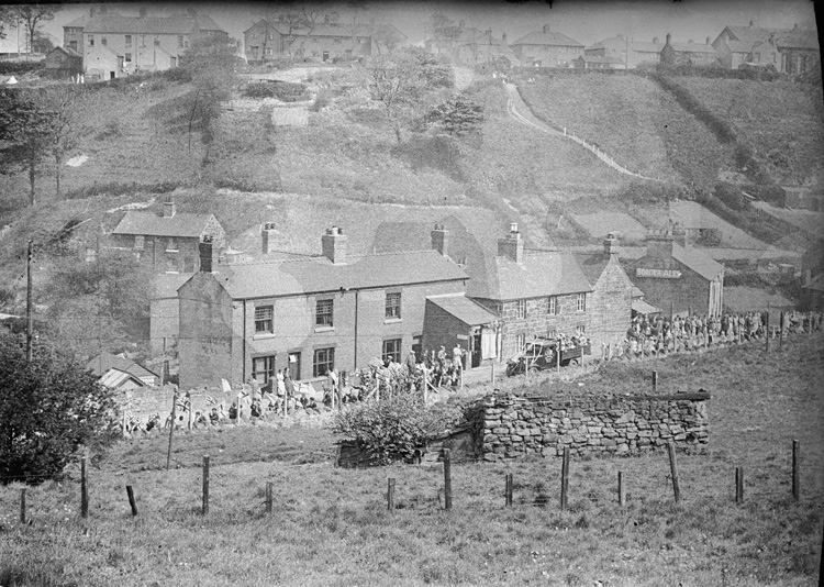 [Procession from Tommy Swans' shop, Brymbo]
