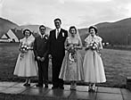 [Wedding of Joyce Lloyd to John Thomas at Sardis Chapel, Llanwddyn]