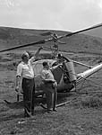 [Spraying the bracken above Abergwyngregyn Agricultural College by helicopter]