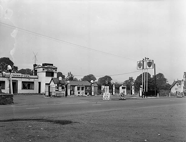 [The Lion Filling Station and Cafe, proprietor Mr Hughes]