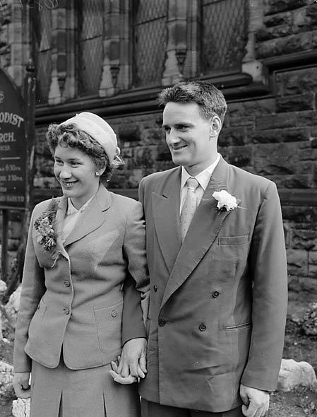 [Wedding of Hazel Loretta Moreton to Ronald George Rocke at Beatrice Street Methodist Church, Oswestry]