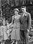 [Wedding of Hazel Loretta Moreton to Ronald George Rocke at Beatrice Street Methodist Church, Oswestry]