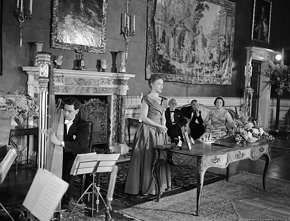 "[The TV programme ""Music at the Castle"" relayed from Chirk Castle]"