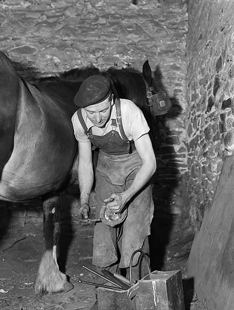 [Blacksmith at Llwyn-mawr]