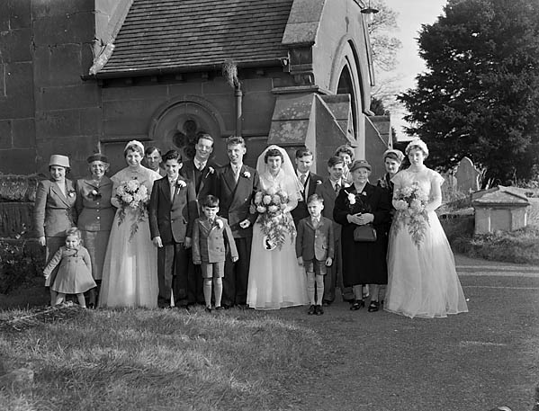 [Wedding of Beryl Jones to Robert Barlow at Kinnerley Parish Church]