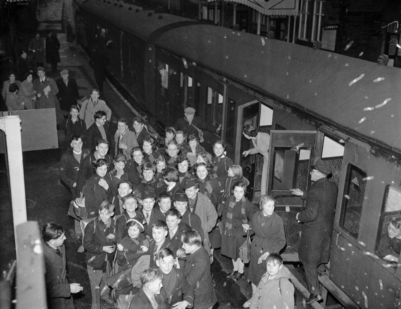 [Corwen school children who were having to travel to Bala because there was no secondary school in Corwen]