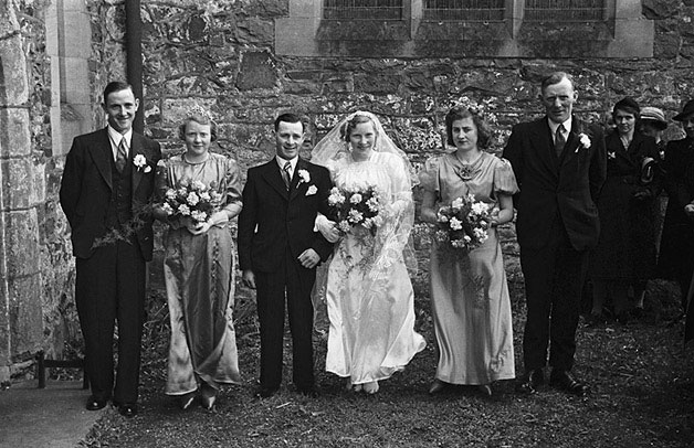 [Wedding of Mary E. Vaughan and W.C. Hughes at Meifod Church]