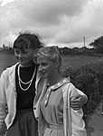 [German girl with friend at Llangefni]