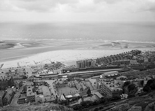 [Aerial view of Barmouth]