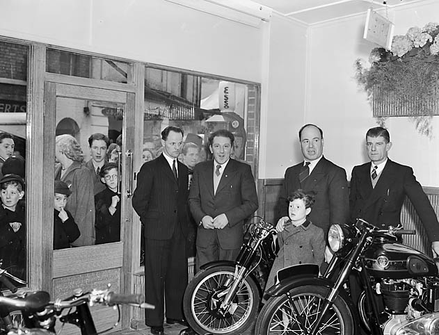 [Opening of the new Roy Evans motor cycle showroom in Beatrice Street, Oswestry]