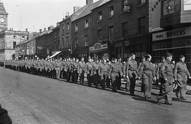 [Welshpool Home Guard on parade]