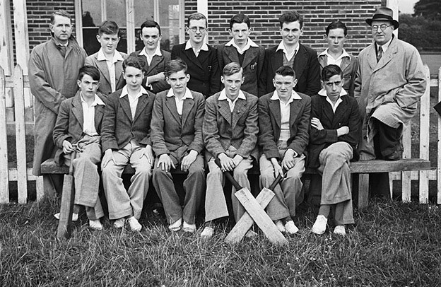 [Newtown v Llanfyllin schools cricket match and retiring headmaster of Newtown County School at Welshpool]