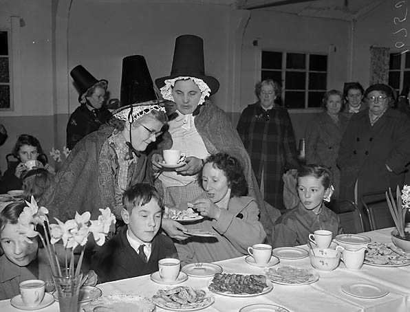 [Members of Llanelltyd Women's Institute at their St David's Day party]