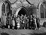 [Wedding of Elizabeth Ann Beech and Frederick Ernest Griffiths at Glyn Ceiriog Parish Church]