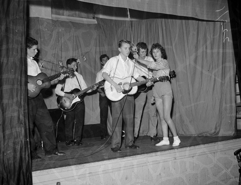 [The old people of Holyhead being entertained by the Youth Club]