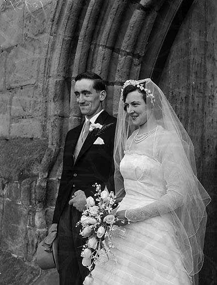 [Wedding of K Marian Williams to C J Edwards at Wem Parish Church]